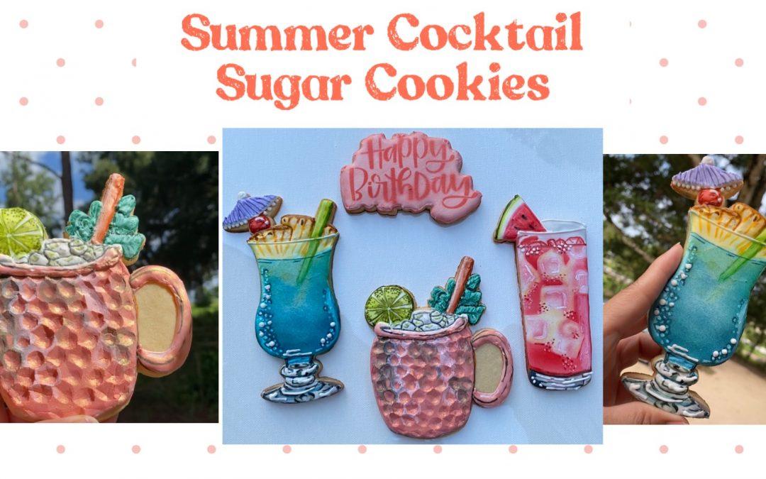 Summer Drinks Sugar Cookies